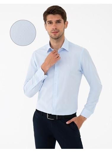 Pierre Cardin G021Gl004.000.1294438.Vr003 Gömlek Uzunk Mavi